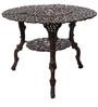 Victorian Style Antique Copper Cast Aluminium Round Table by Karara Mujassme