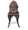 Victorian Style Antique Copper Cast Aluminium 4-Seater Dining Set (1 Table + 4 Chairs) by Karara Mujassme