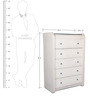Viola Chest of Five Drawers in Beige Colour by Lalco Interiors