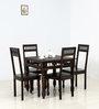 Visikha Four Seater Dining Set in Warm Chestnut Finish by Mudramark