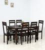 Visikha Six Seater Dining Set in Warm Chestnut Finish by Mudramark