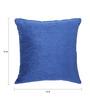 Vista Blue Chenille 16 x 16 Inch Cushion Cover