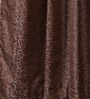 Vista Home Brown Polyester 84 x 55 Inch Solid Door Curtain - Set of 2