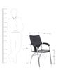 Viva 3 Chair in Black Colour by Oblique