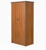 Viva Two Door Wardrobe in Cincinnati Walnut Finish by Godrej Interio