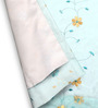 Vorhang Blue Polyester Floral Opaque Window Curtain - Set of 2