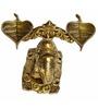 Vyom Shop Yellow Brass Elephant Divi Handle