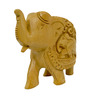 Vyom Shop Wooden 3 x 1.5 x 2 Inch Elephant Up Trunk Showpiece
