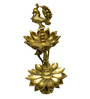 Vyom shop Brass Peacock Oil Lamp