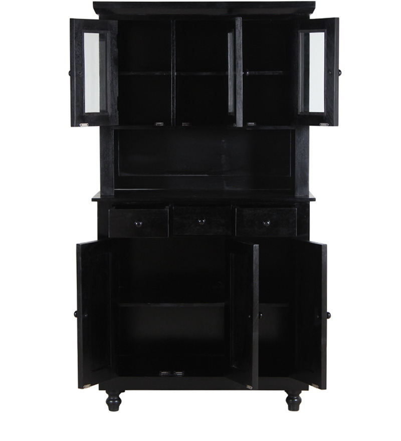 Buy Warren Hutch Cabinet In Espresso Walnut Finish By