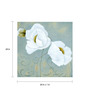 Wall Decor White Canvas 24 x 24 Inch Flower Framed Digital Art Print