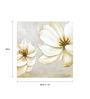 Wall Decor White Canvas 24 x 24 Inch Flowers Framed Digital Art Print