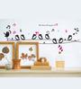 WallTola PVC Vinyl Cute Singing Birds Wall Sticker