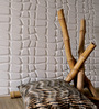 WallArt Crushed Sugarcane Fibres 20 x 20 Inch Stone Effect 3D Wall Panels - Set of 12