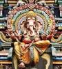 Wallskin Beige Non Woven Paper Majestic Ganesha Wallpaper