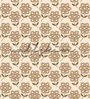 Wallskin Brown Non Woven Paper Big Flowers Wallpaper