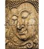 Wallskin Brown Non Woven Paper Buddha Enlightened One Wallpaper