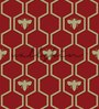 Wallskin Maroon Non Woven Paper The Bee Wall Wallpaper