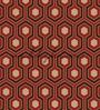 Wallskin Maroon Non Woven Paper The Warm Pattern Wallpaper
