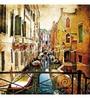Wallskin Orange Non Woven Paper Amazing Venice Wallpaper