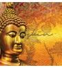 Wallskin Orange Non Woven Paper Buddha Great Wallpaper