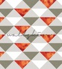 Wallskin Orange Non Woven Paper The Triangles Wallpaper