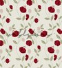 Wallskin Red Non Woven Paper Floral Orchids Wallpaper