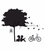 Wallskin Vinyl Kids Studying in A Park Wall Decal