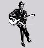Wallskin Vinyl Man Playing Guitar Wall Decal