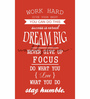 Wallskin Vinyl The Dream Big Quote Wall Decal
