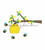 Wallskin Vinyl The Honey Bee Tree Wall Decal