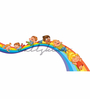 Wallskin Vinyl The Rainbow Slide Wall Decal