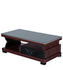 Wave Coffee Table in Rosewood & Black Colour by Royal Oak
