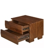Waves Night Stand with Walnut Finish by @home