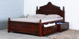 Weldon King Bed with Storage in Honey Oak Finish by Amberville