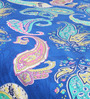 Welhome Blues Indian Ethnic Cotton Queen Size Bed Sheets - Set of 3