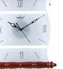 Wertex Brown Glass & MDF 12 x 1.5 x 13.5 Inch Wall Clock