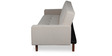 Wilber Sofa cum Bed in Beige Colour by Forzza