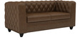 William Two Seater Sofa in Chester Tobacco Colour by ARRA