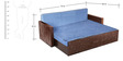 Winchester Sofa Cum Bed in Sky Blue Colour by Auspicious