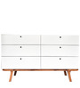 Willam Mid Century Chest of Drawers in White Colour by Asian Arts