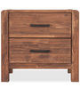 William Bedside Table in Brown Colour by Durian