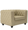 William One Seater Sofa in Beige Colour by ARRA
