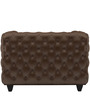 William One Seater Sofa in Chester Brown Colour by ARRA