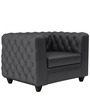 William One Seater Sofa in Peras Bag Black Colour by ARRA