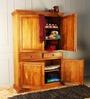 Trescott Wardrobe in Honey Oak Finish by Amberville