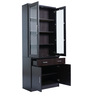 Wing Two Door Book Case in Chocolate Colour by Royal Oak