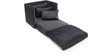 Fold-Out Single Bed in Black Colour by Furny