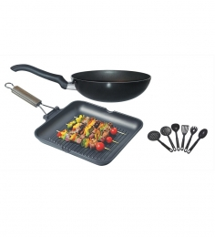 Wonderchef Celebration Plus Set with Free Receipe Booklet plus 6 Pcs Kitchen Tools Worth Rs 750/-