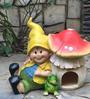 Wonderland Boy & Toad with Mushroom House
